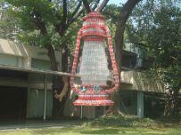 Photo: Display Lantern made up of water bottles.
